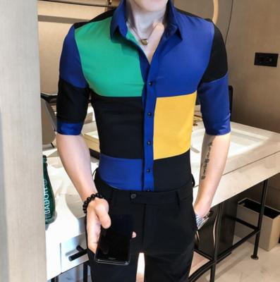 Camisa de Cuadros Slim Fit Hombre Korean Style