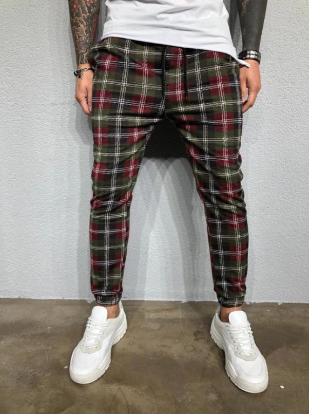 Pants SweatPants Irregular Liso  Slim Fit Hombre Korean Style