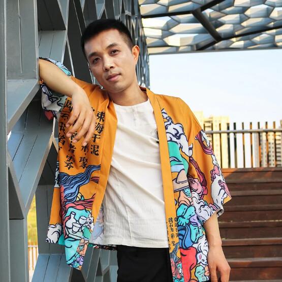 Hip Hop Cardigan Kimono Ropa Corean Korean Style