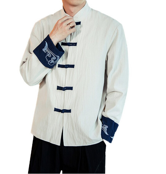 Retro Chino Cardigan Jacket Korean Style