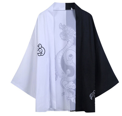 Kimono Cardigan Jacket Hombre Korean Style