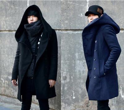 Cardigan Jacket Capucha Hombre Korean Style