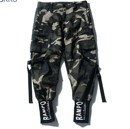 Pantalon Camuflaje Harem Streetwear Hip Hop Hombre Ropa Coreano Korean Style