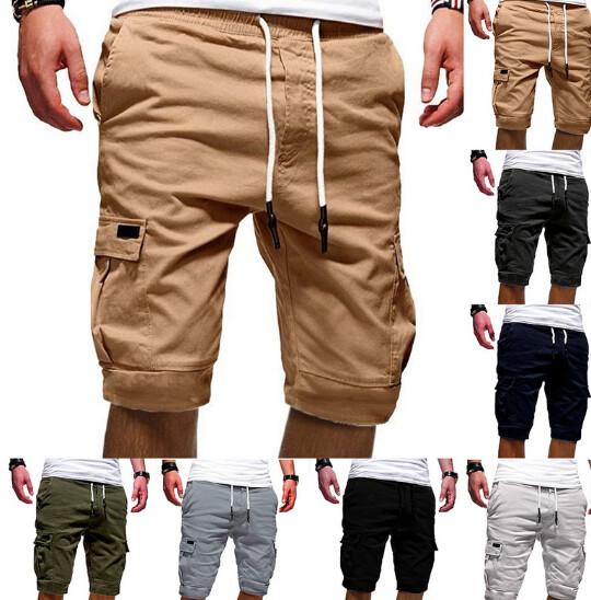 Shorts Multi-Bolsillo Ropa Coreana de Hombre Korean Style