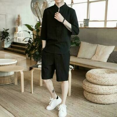 Short y Camisa Fresca Verano  Hombres Korean Style