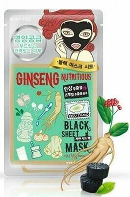 Dewytree Deep Detox /Ginseng Nutritious Black Mask 10Sheets