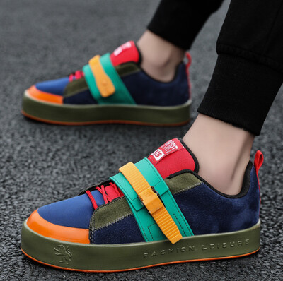 Fashion Colorful Buckle Casual Shoes Men
