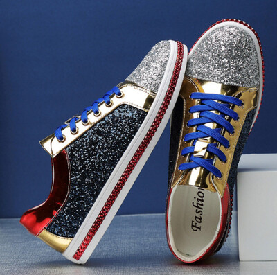 X Brand Fashion Shiny Mirror Shoes Men