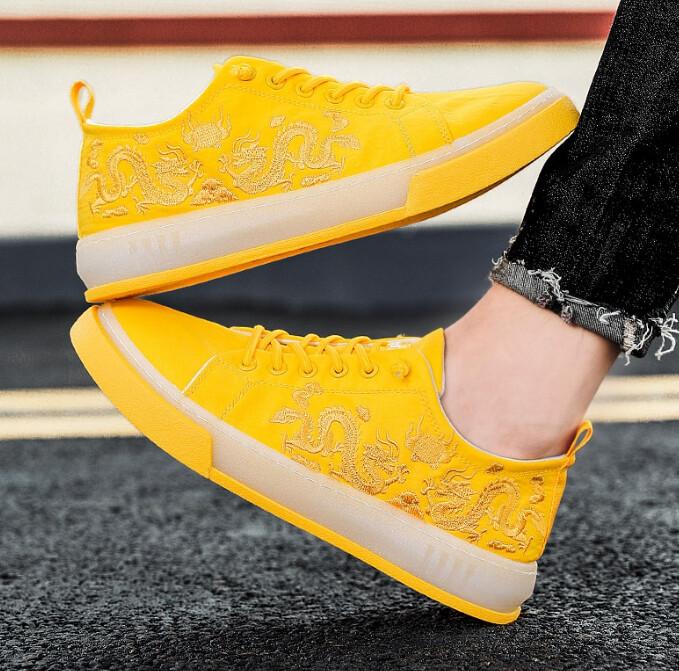 Mens Casual Flat Shoes Plimsolls Dragon