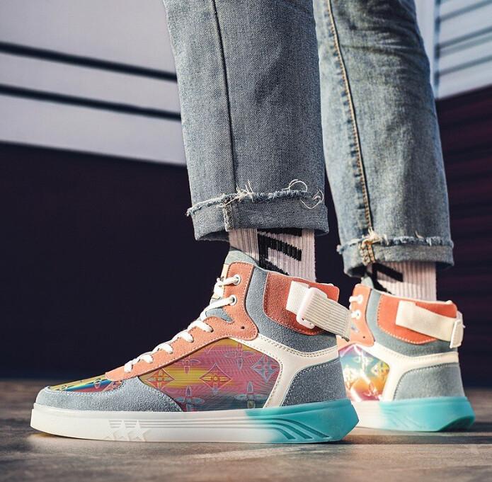 Designer Fashion Sneakers Men Colorful