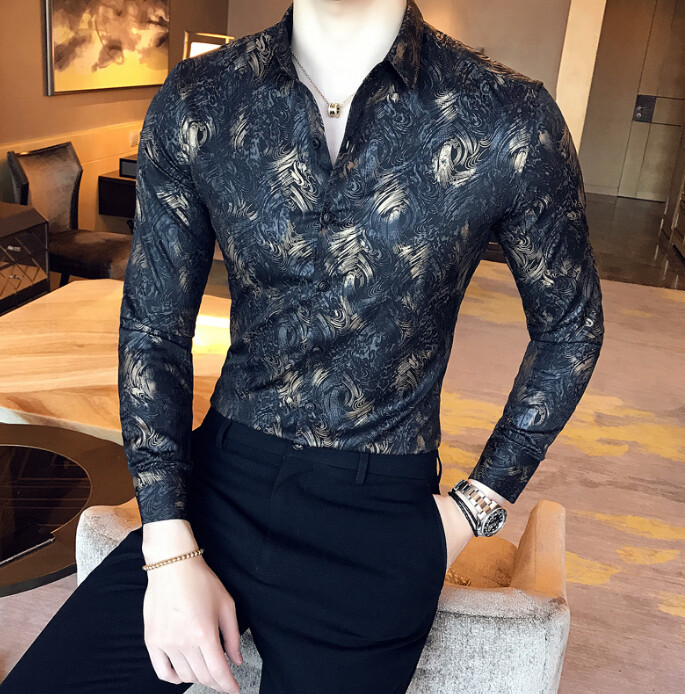 Camisa Lisa Slim Fit Hombre Korean Style