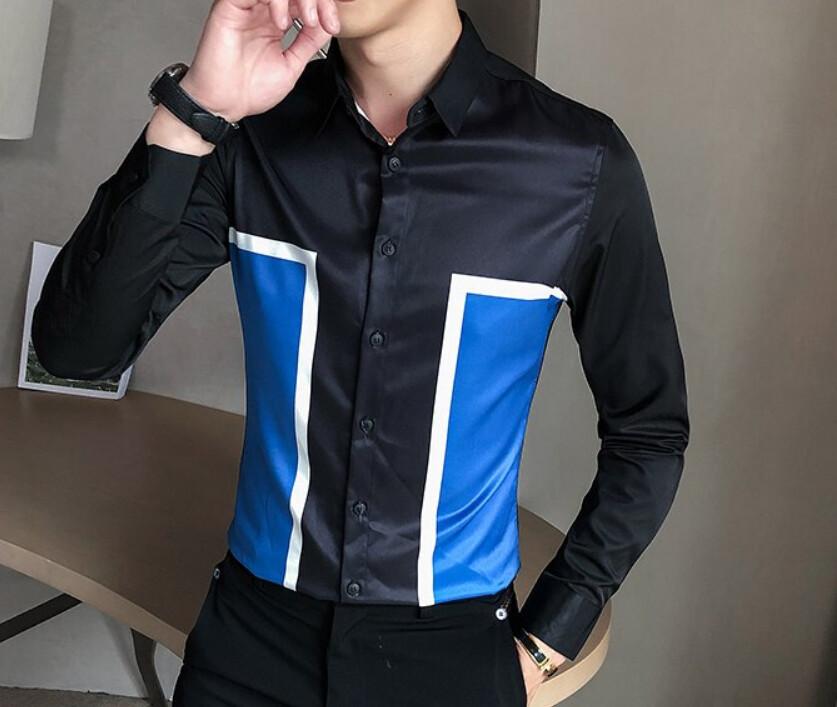 Camisa Slim Fit  Hombre Korean Style