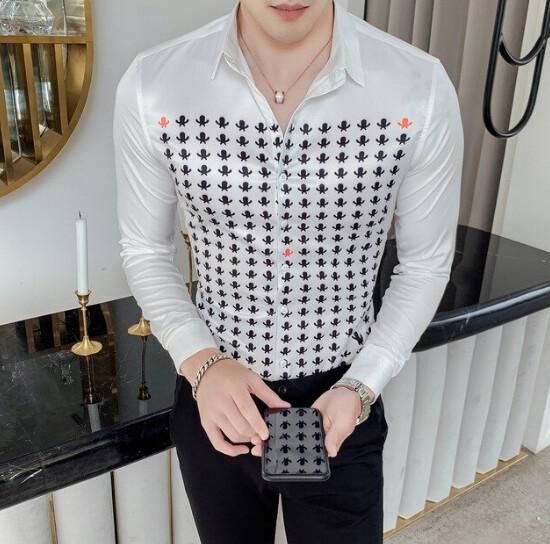 Camisa Masculina de otoño para Hombre Korean Style