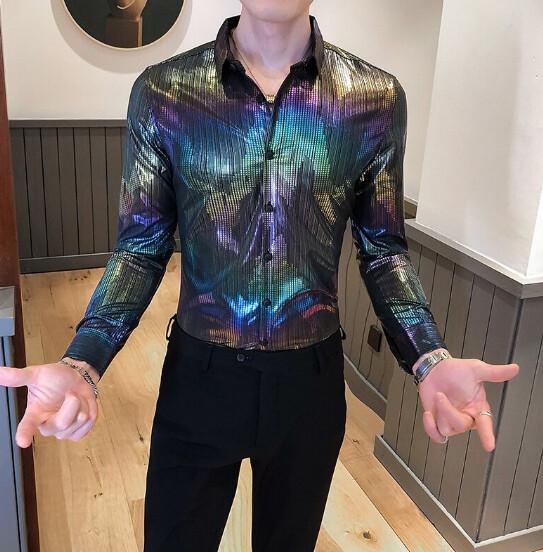 Camisas florales de alta calidad para Hombres Korean Style