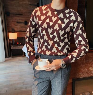 Moda británica, suéter para hombres Hombres Korean Style