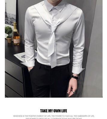 Camisas lisas a la moda para Hombres Korean Style
