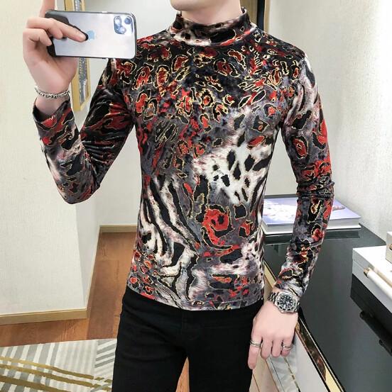Camisa Cuello Tortuga para Hombres Korean Style