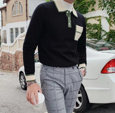 Camisa Otoño Alta Calidad para Hombres Korean Style
