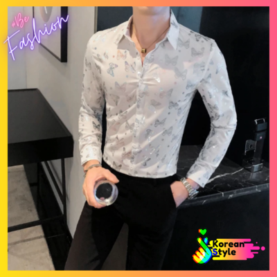 Limited butterfly Shirt For Men Korean Style