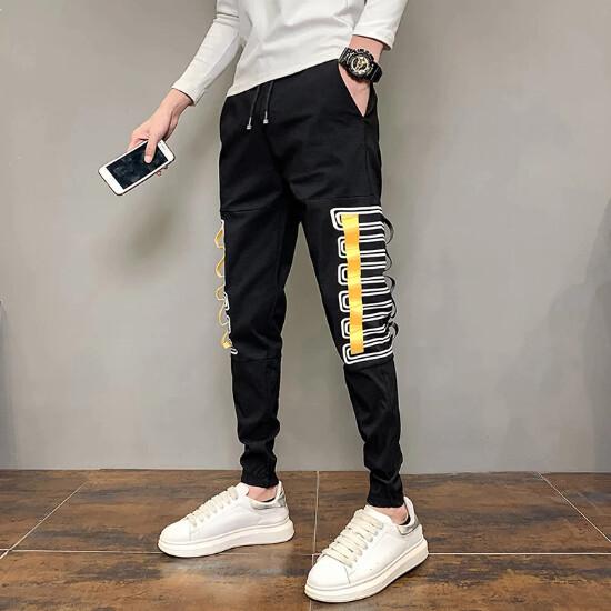 Pantalones Cargo ajustados coreanas para hombre, ropa de moda, combina con todo, sencillos