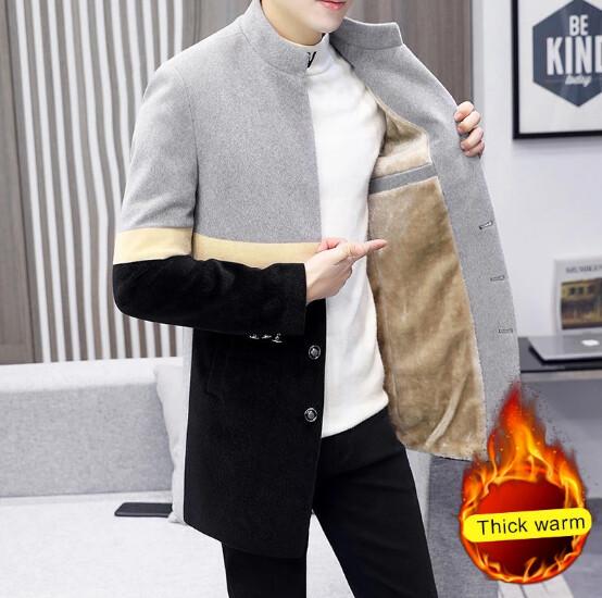 Chaqueta de lana gruesa y ajustada para hombreSweatpants Korean Style