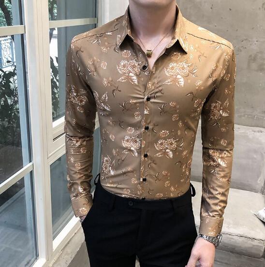 Camisa de estilo británico para hombre