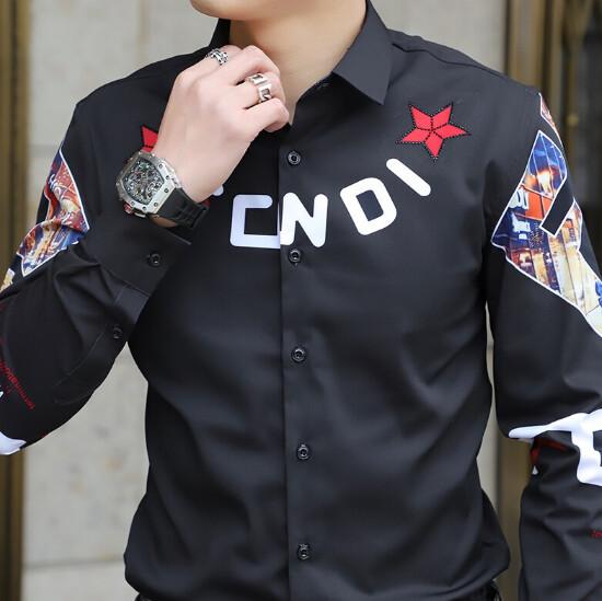 Camisas ajustadas de manga larga para hombre, Camisa informal  Korean Style