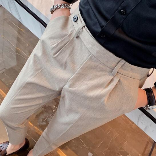Ropa de negocios coreana para hombre, pantalones formales Korean Style