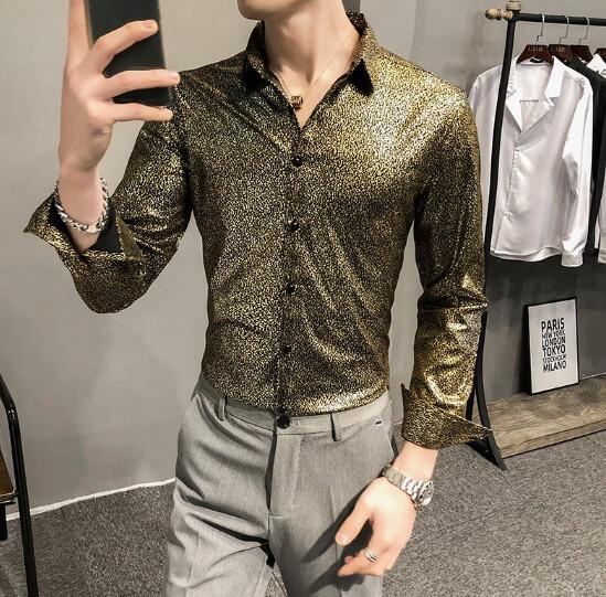 Camisas ajustadas coreanas de alta calidad para hombre, ropa Formal de negocios Camisa informal  Korean Style