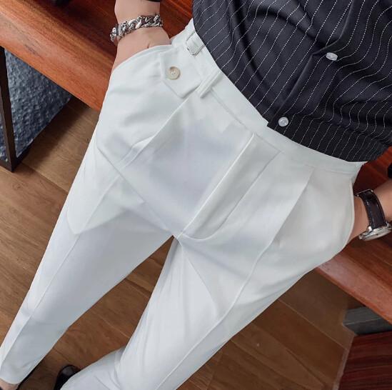 Pantalones de vestir ajustados informales para hombre Korean Style