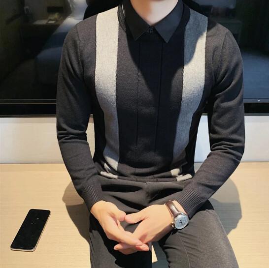Polo de punto de alta calidad para hombre  Korean Style