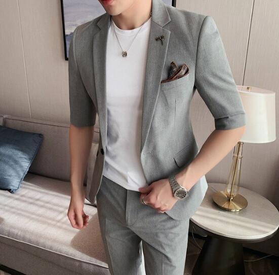 Chaqueta + pantalón coreano de primavera y verano para hombre  Korean Style