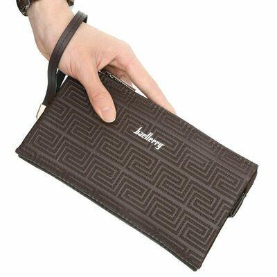 Large Capacity Mens Leather Wallet Long Zipper
