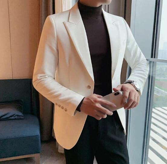 Pantalones de cuero gruesos y cálidos para hombres, ropa para hombres Korean Style