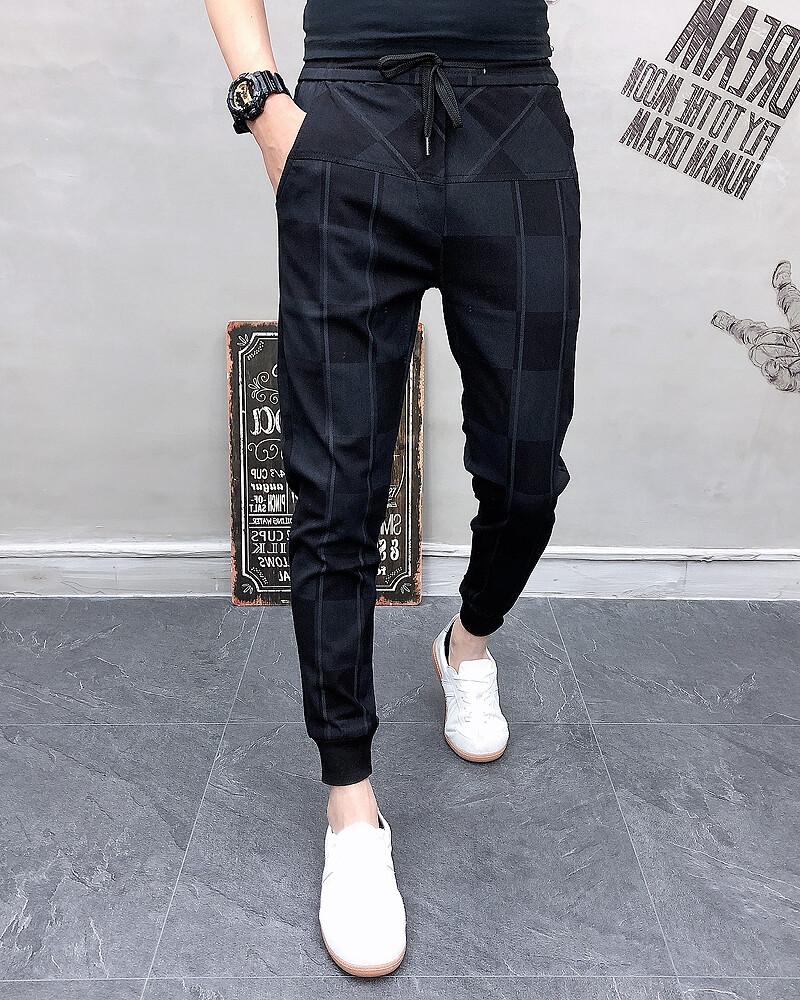 Pantalones de chándal para hombre, pantalón informal,