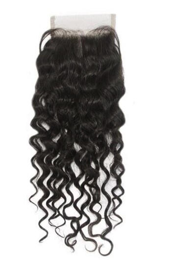 12″ Natural Curly Indian Hair Closure #Natural