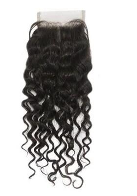 12″ Natural Curly Indian Hair Closure #Natural