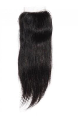 12″  Straight Indian Hair Closure #Natural