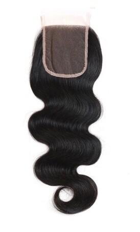 12″ Wavy Indian Hair Closure #Natural