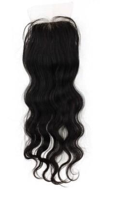 14″ Wavy Silk Top Indian Hair Closure #Natural