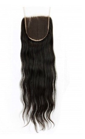 18″ Straight Indian Hair Lace Closure #Natural