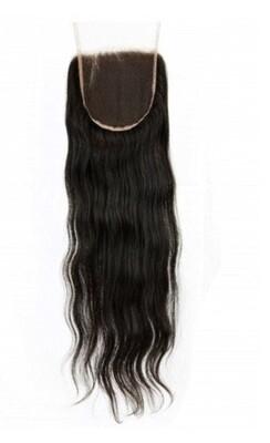 18″ Straight Indian Hair Lace Closure #Natural