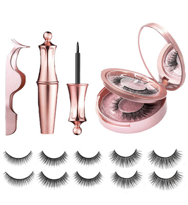 5 Pair Magnetic Eyelashes And Eyeliner