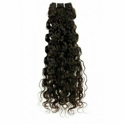 22″ Deep Curly Indian Hair Machine Weft