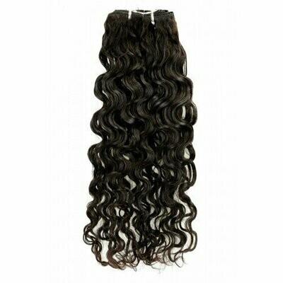 18″ Deep Curly Indian Hair Machine Weft