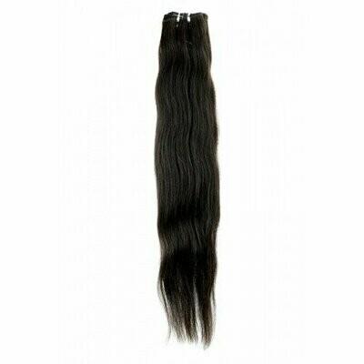 22″ Natural Straight Indian Hair Machine Weft