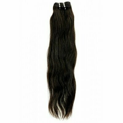 18″ Natural Straight Indian Hair Machine Weft