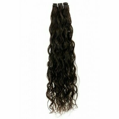 25″ Natural Curly Indian Hair Machine Weft