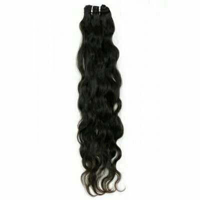 25″ Natural Wavy Indian Hair Machine Weft