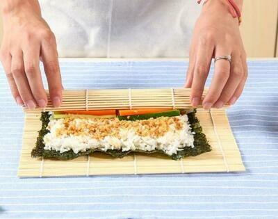 DIY Bamboo Sushi Rolling Mat Set ( 2 Sets)